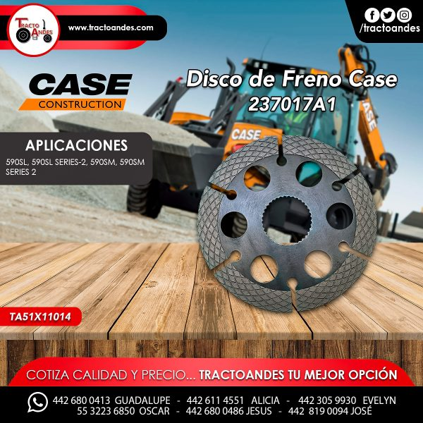 Disco de Freno Case - 237017A1