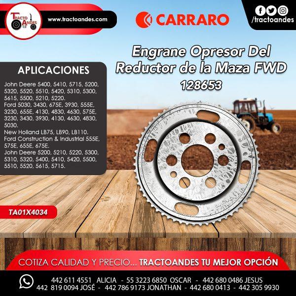 Engrane Opresor Del Reductor de la Maza FWD - 128653