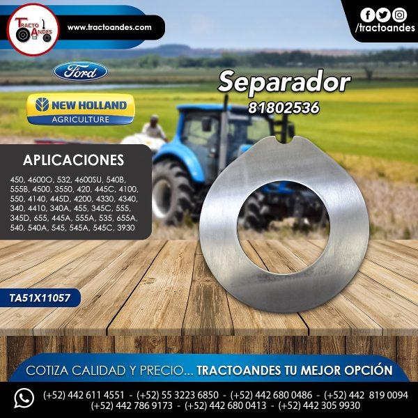 Separador - 81802536 - Ford New Holland