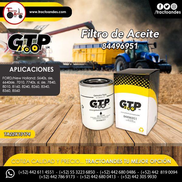 Filtro de Aceite - 84496951