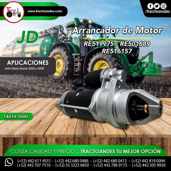 Arrancador de Motor - RE519975 - RE519975 - RE501689 - RE516157
